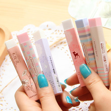 1 Pc Stationery Supplies Kawaii Cartoon Pencil Erasers For Office School Kids Prize Writing Drawing
