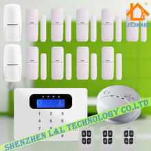 New Wireless Alarm System GSM LCD Screen Home Automation Security System Kit Smoke Alarm