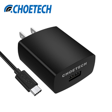 CHOETECH 18W Quick Charge 3.0 Portable Charger Fast Travel USB Charger with USB C Charging Cable for Samsung Tablets Charger(China)