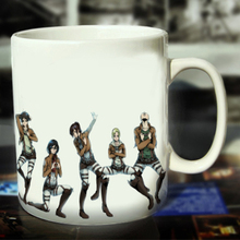 New Attack on Titan Ceramic Coffee Mug White Color Or Color Changed Cup Dance---Loveful
