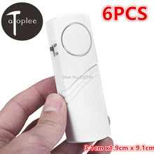 6pcs 90dB Alarm Wireless Window Door Magnetic Sensor Burglar Entry Alarm Dustproof Home Office Burglar Alarm System