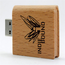 customized logo wooden book model usb 2.0 memory stick pen drive students gift (over 30 pcs,free logo fee)