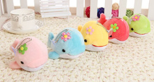 Super Cute Multi Colors - Flower Dolphin SIZE 13CM - Plush toy doll ; Stuffed Sucker Pendant Toy ; Gift Plush Toys