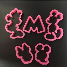 Mickey Mouse Mickey Minnie 5 Piece Cookies Cake Tools Cut Molds Cookies Cookies Mold Bake Molds A1177