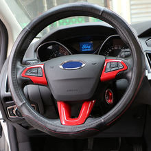 Carmilla Car Interior Steering Wheel Protection Cover Decoration Trim Stickers For Ford Ecosport   Accessories