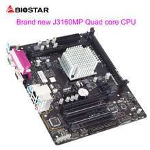 BIOSTAR Motherboard J3160MP For Intel Integrated Quad Core Celeron CPU Processor Board Kit Computer Motherboards Support DDR3