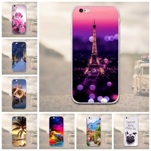 Ultrathin Soft TPU Case for iphone 6 6s 6plus 7 7plus Flower Plants Animal Cartoon Pattern Soft TPU Phone Case For iPhone 7 6 6S