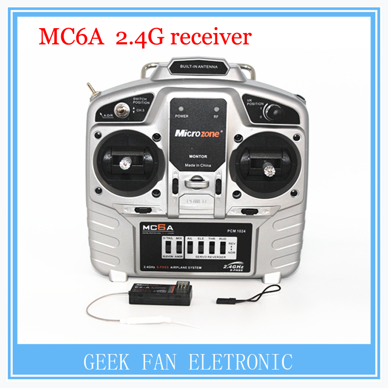 MC6A model aircraft remote control 2.4G receiver with fixed wing aircraft through the 4 axis KT board machine wholesale<br><br>Aliexpress