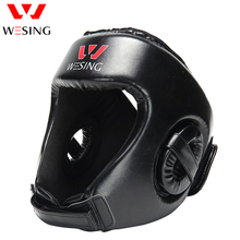 boxing head protector wesing sanda training Headgear boxing Head Guard Training Helmet Kick Boxing Protection Gear(China)