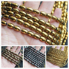 Natural Hematite Plated Color Oval Beads 15inch per strand, For DIY Jewelry Making,wholesale for all items!
