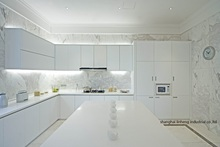 High gloss/lacquer kitchen cabinet mordern(LH-LA069)(China)