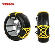 Yika 6Pcs/Set Universal Car Tyre Winter Roadway Safety 3x TPU  Tire Snow Chains  Climbing Mud Ground Anti Slip for Snow Mud Road