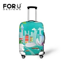 Protable travel trolley accessories waterproof luggage covers 18-30 inch suitcase bag cover protective dust elastic cover(China)