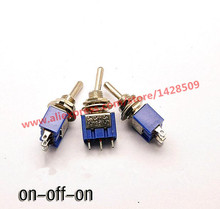 5 Pcs  ON-OFF-ON 3 Pin Mini  Miniature Latching Toggle Switch MTS103 3A/250V 6A/125V