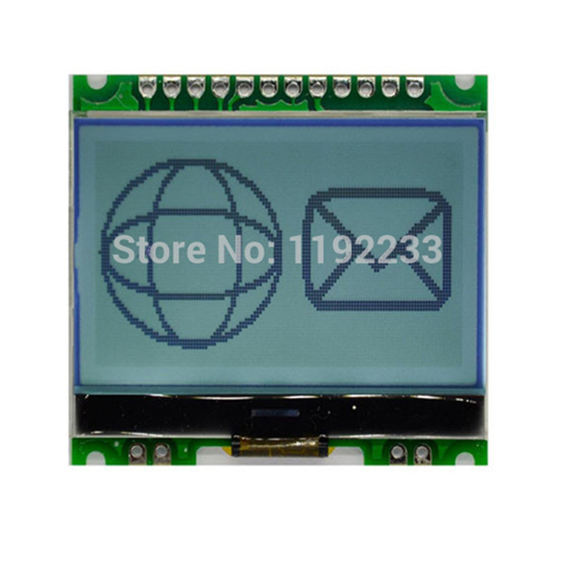12864G-086-P LCD Display Module 12864 128*64 Dot Matrix LCD Module COG with Backlight L21(China (Mainland))