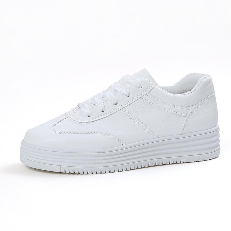 2018 Summer Sneakers Women Causal Shoes White Basket Femme Platform Flats Creepers Zapatillas Deportivas Mujer board shoe