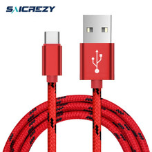 Gold-plated shell 1m 2m 8pin USB Charger Cable For iPhone 6 6S 7 type c  usb for samsung galaxy s8 a3 a5 a7 2017,2a quick charge
