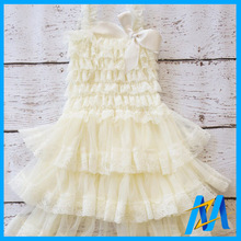 Free Shipping DELUXE Ivory Lace Dress- Girls Ivory Flower Girl Dress - Pictures, Antique Lace Petti Dress 24Pcs/Lot(China)