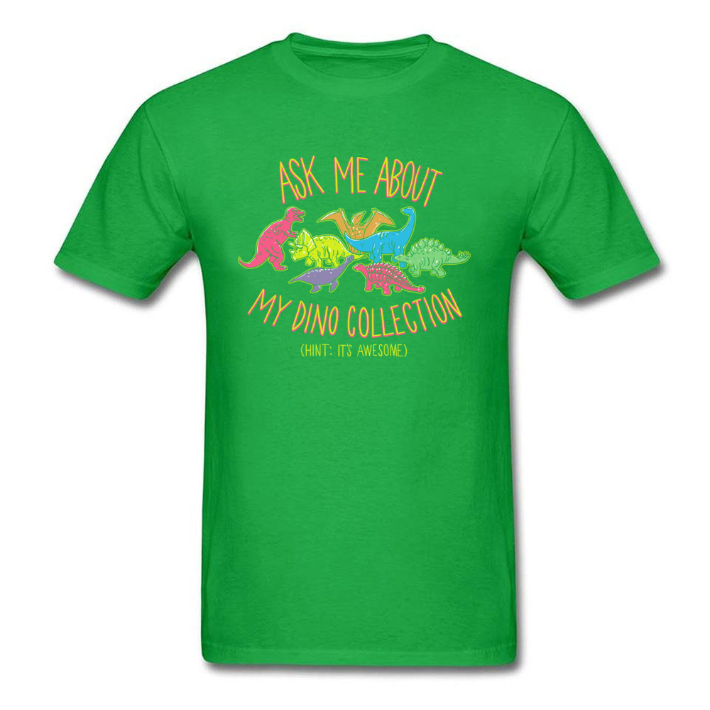 Normal dino collection 5493 Men T Shirt Newest Autumn Short Sleeve Crewneck 100% Cotton Tops & Tees Normal Tee-Shirt dino collection 5493 green