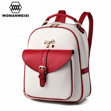 2017 New Design Beautiful Women Backpacks Fashion PU Leather Female Bagpack Backpacks For Teenage Girls Mochila School Bags
