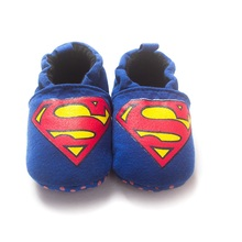 Blue Superman Baby Boy Shoes Anti-Slip Newborn Socks 0-18Month Soft Sole Comfortable Baby Sneakers Bebe Moccasin(China)