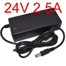 1pcs New Adequate power 24V2.5A AC 100V-240V Converter Adapter DC 24V 2.5A Power Supply DC 5.5mm x 2.5mm Charger(China)