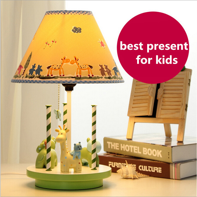 NEW resin fabric eco friendly adjustable eye protection childrens room e27 table lamp for kids present 1932<br><br>Aliexpress