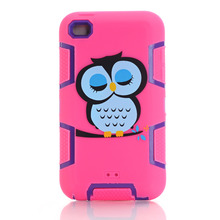Couqe Cases For iPod Touch 4 Armor Shock Proof Back Covers Combo Robot 3 in 1 PC Silicone Cell Phone Skin Fundas <#