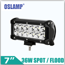 "Oslamp 36W 7"" Reflection Cup CREE LED Chips Work Lights 4x4 4WD OffRoad Driving Led Light Spot/Flood 12v 24v ATV Boat SUV RV Car"