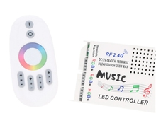 [Seven Neon]Free shipping Music LED RGB Controller DC12-24V Intelligent Sensitivity 3*5A LED Control+RF Touch Remote Controller(China)