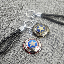 Hot Captain American Shield Car Key Chain Ring Car Styling Purse Bag Backpack Keychain Pendant Car & Motorcycle Car Accessories(China)