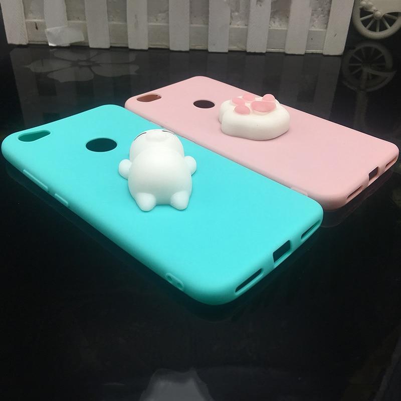 3d Squishy Cat Silicon TPU Soft Case For Xiaomi Redmi 5 plus 4X 4A 3S note 5 pro Candy Color Back Cover Redmi 5A prime 3 4 Cases (4)