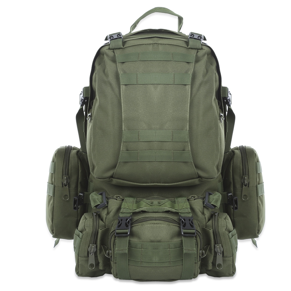 50L Multifunction Sport Bag Molle Tactical Bag Water Resistant Camouflage Backpack for Outdoor Climbing Hiking Camping 8 Colors<br>
