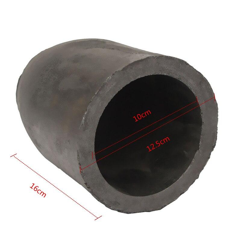 12.5 x 16cm 5kg Casting Clay Graphite Crucibles Refining Melting Copper Aluminium Brass Bulk Density More than 1.71g /cm3 ect<br>