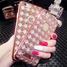 Luxury Gold Bling Glitter Plating Diamond Phone Case For Huawei P8 P9 P8 P9 Lite Mate 8 Honor 5X Soft TPU Back Cover For P8