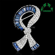 3pcs Rhinestone Brooch Jewelry Fashion Handmade Navy Blue Crystal Hijab Pins Brooches For Women Wedding Dress Brooches Pin Badge(China)
