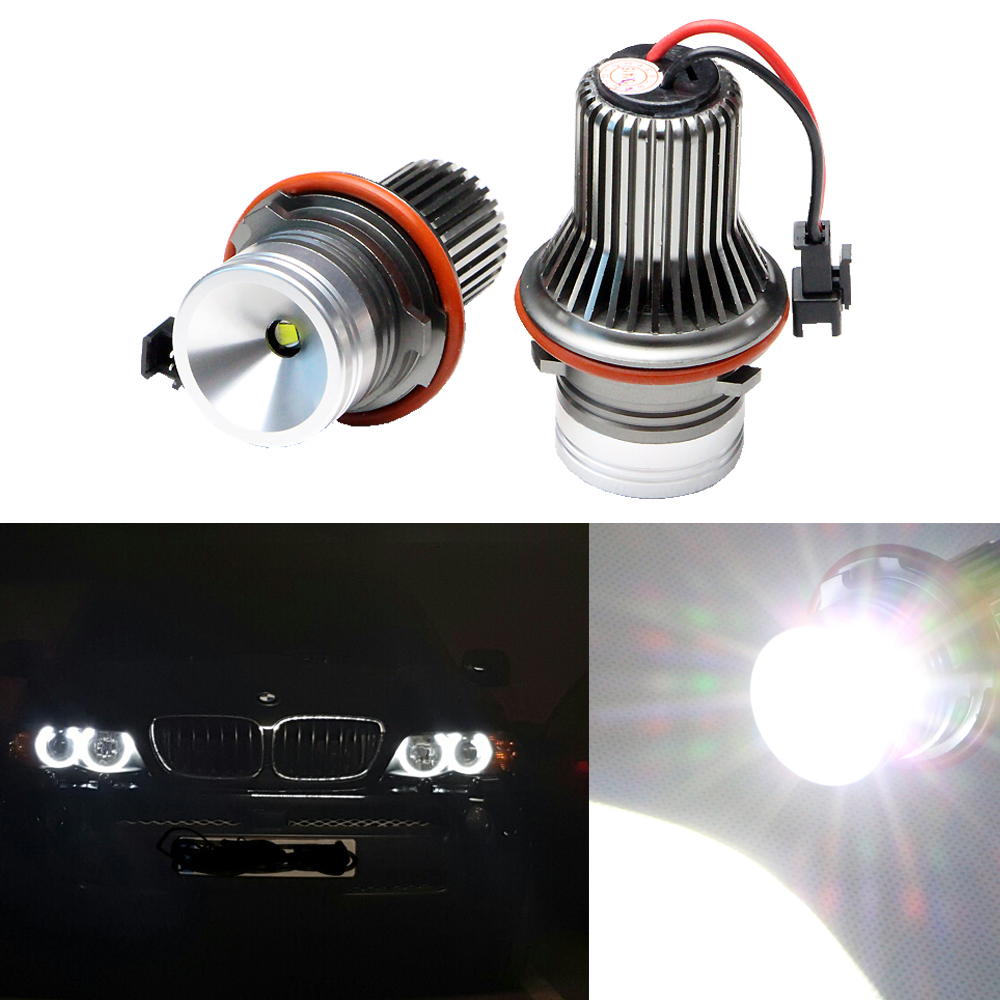 2X 10W Led marker angel eyes for E39 E87 E61 E63 E64 E83 E53 Car Styling Accessories DRL Xenon White Marker led Cree chips<br>