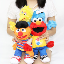 Cartoon Cute Sesame Street Hand Puppet toy Soft Plush Toy Parent-child toy For Children Kids(China)