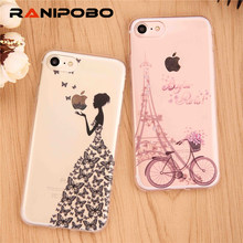 3D Flower Butterfly Dandelion Pattern Cover for iPhone 7 7 Plus 6 6S Plus Clear TPU Silicone Soft Case Cover copa for iPhone7(China)