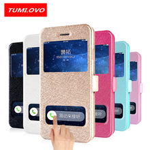 Luxury Smart Front Window View Leather Filp Case for iPhone X Cases Cover Phone Case for iPhone 6 6S 7 8 Plus 5 5S 5SE Coque(China)