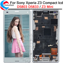 For Sony Xperia Z3 Compact LCD Touch screen Display D5803 D5833 Digitizer + Frame for Sony z3 mini Screen Replacement +(China)