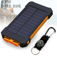 Solar Power Bank Charger battery Universal Portable powerbank power bank 20000MAH High-Capacity External Sun solar charger