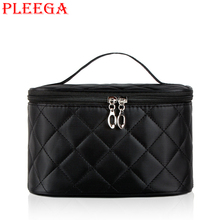 PLEEGA Brand Women Cosmetic Bag High Quality Leisure Portable Make Up Bags Travel Makeup Wash Supplies Organizer Bag Storage Bag