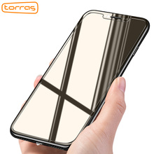 Torras Tempered Glass Screen Protector For iPhone X 9H Hardness 0.1mm Phone Protective Film +Cleaning Kit Screen Glass Protector(China)