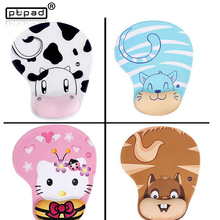 3d breast mouse pad Cat Cattle  Cartoon Lovely Animal Skid Resistance Memory Foam Comfort Wrist Rest Support Mouse Pad Mice Pad