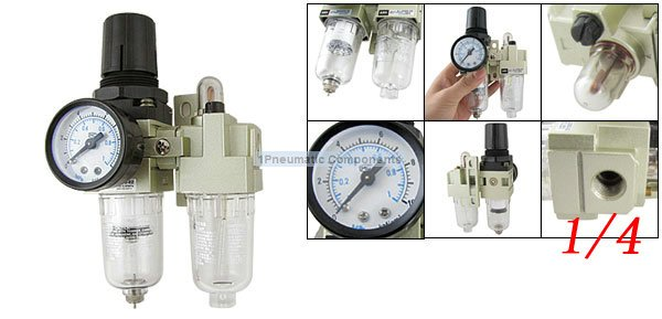 Free Shipping 2PCS/Lot SMC 1/4 AC2010-02 Air Source Treatment Unit Filter Regulator Metal<br>
