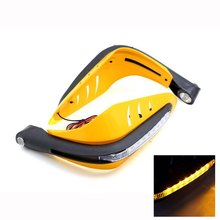 MP-1508105 1 Pair Universal Motorcycle Decorative Dirt Bike Yellow LED Light Handlebar Hand Guards Reduce Hand or Finger Fatigue