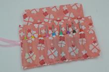 Free Shipping crochet hooks and knitting needles storage bag, needlework accessories, pink color, Only bag(China)