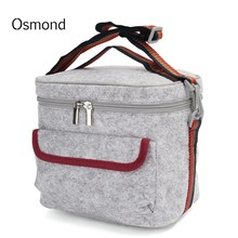 Osmond Large Lunch Bag For Women Waterproof Insulated Thermal Cooler Lunch Bag Picnic Boxes Tote Thermal Food Fruit Storage Bags(China)