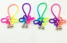 100pcs Chinese knot bow Elasticity Skinny hair loop hair ropes DIY hair accessories kids/women Headband Hair Band FJ3312
